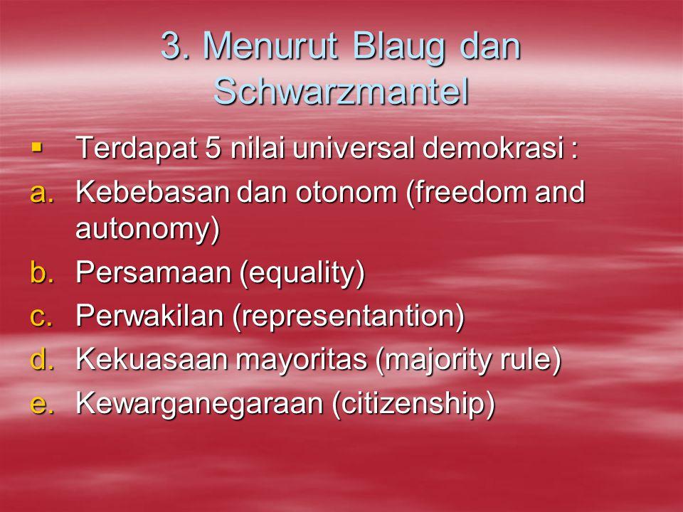 3. Menurut Blaug dan Schwarzmantel