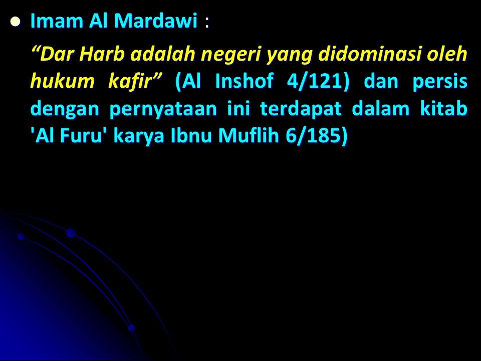 Imam Al Mardawi :