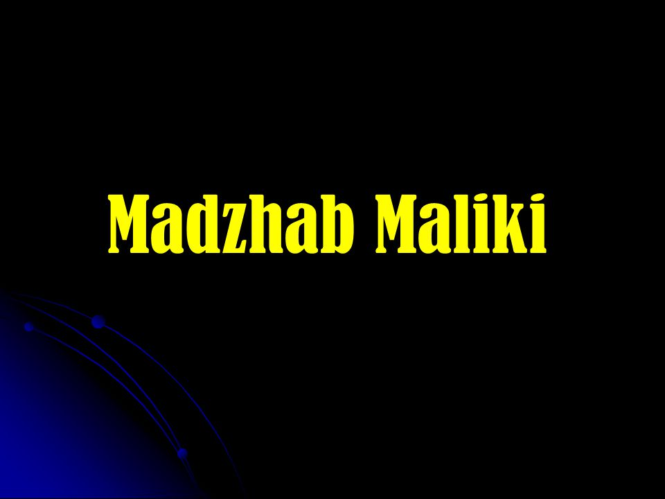Madzhab Maliki