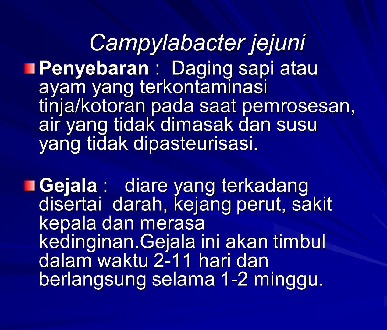 Campylabacter jejuni