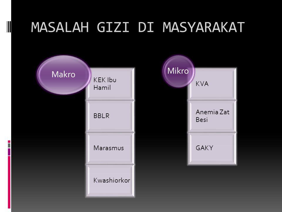 MASALAH GIZI DI MASYARAKAT