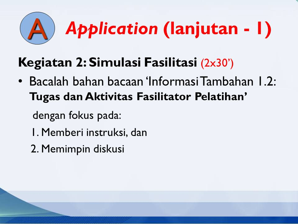 Application (lanjutan - 1)