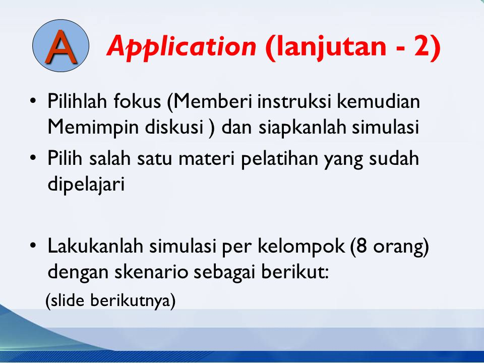 Application (lanjutan - 2)