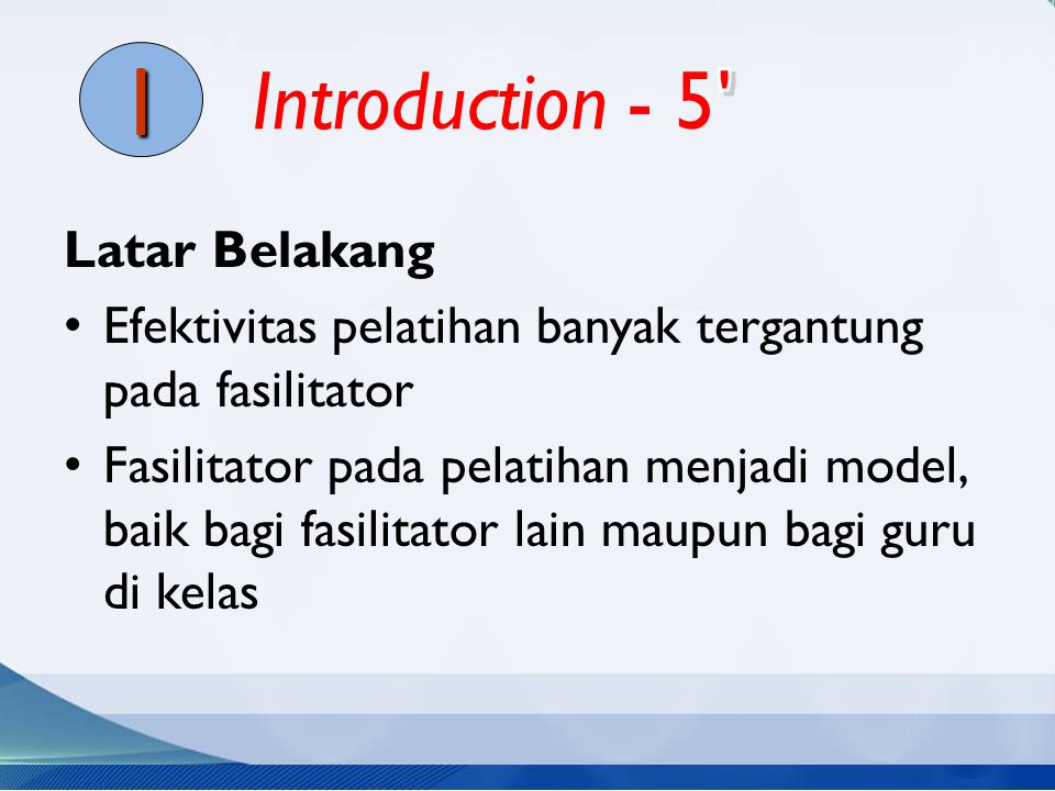 I Introduction - 5 Latar Belakang