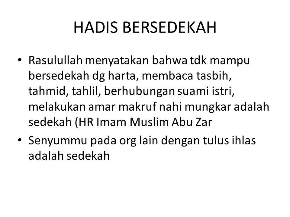 HADIS BERSEDEKAH