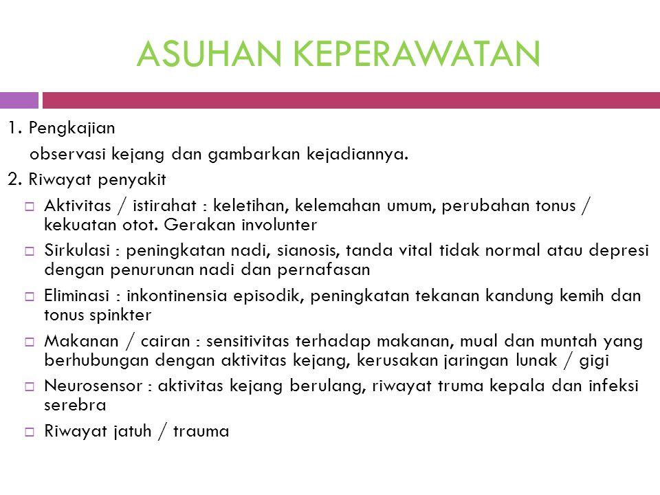 ASUHAN KEPERAWATAN 1. Pengkajian