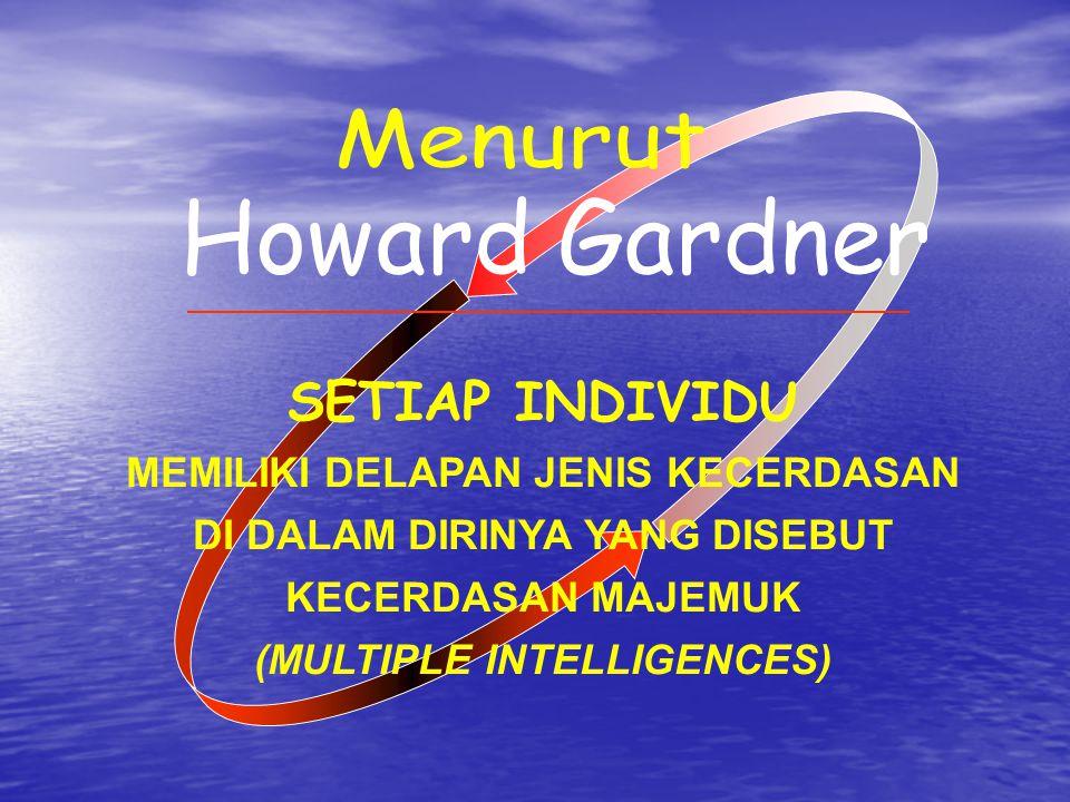 Menurut Howard Gardner SETIAP INDIVIDU