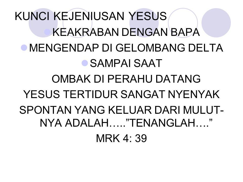 KUNCI KEJENIUSAN YESUS