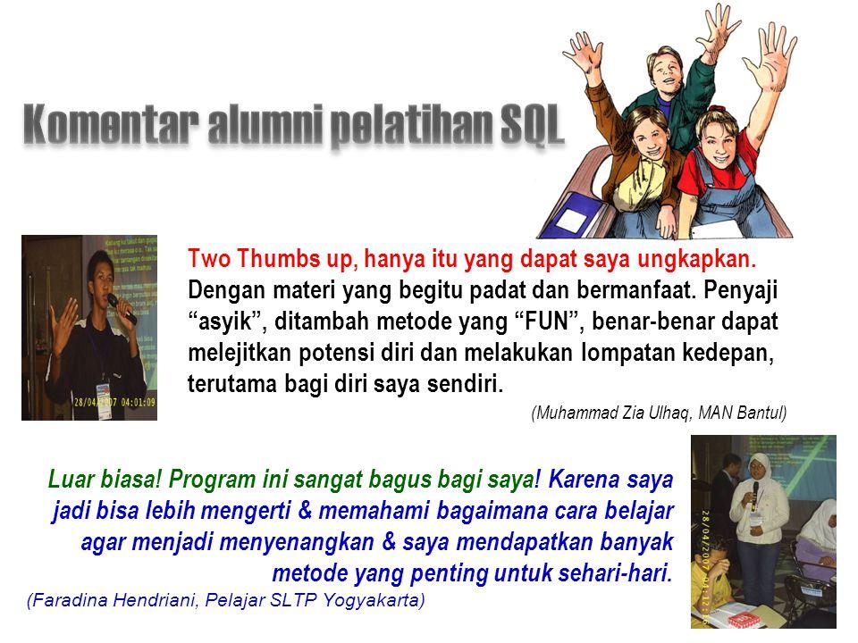 Komentar alumni pelatihan SQL