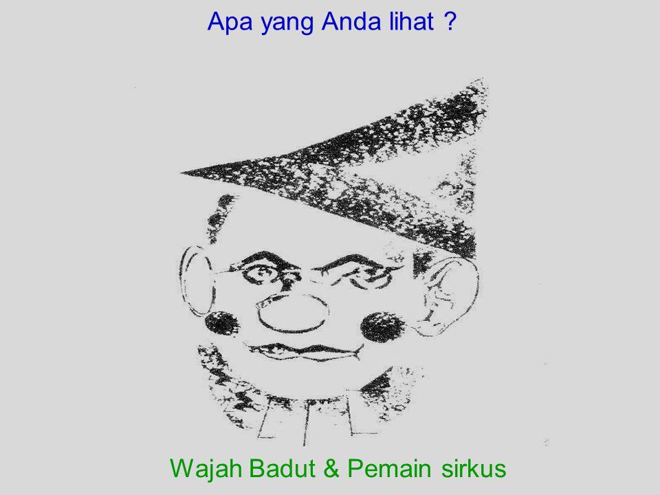 Wajah Badut & Pemain sirkus