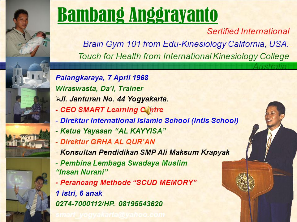 Bambang Anggrayanto Sertified International