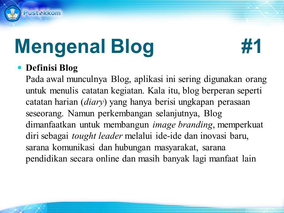 Mengenal Blog #1