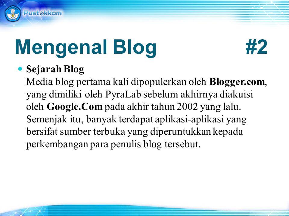 Mengenal Blog #2