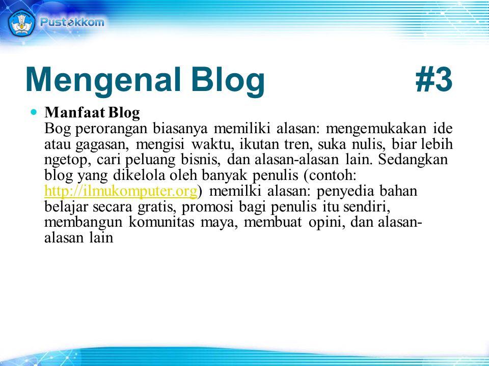 Mengenal Blog #3