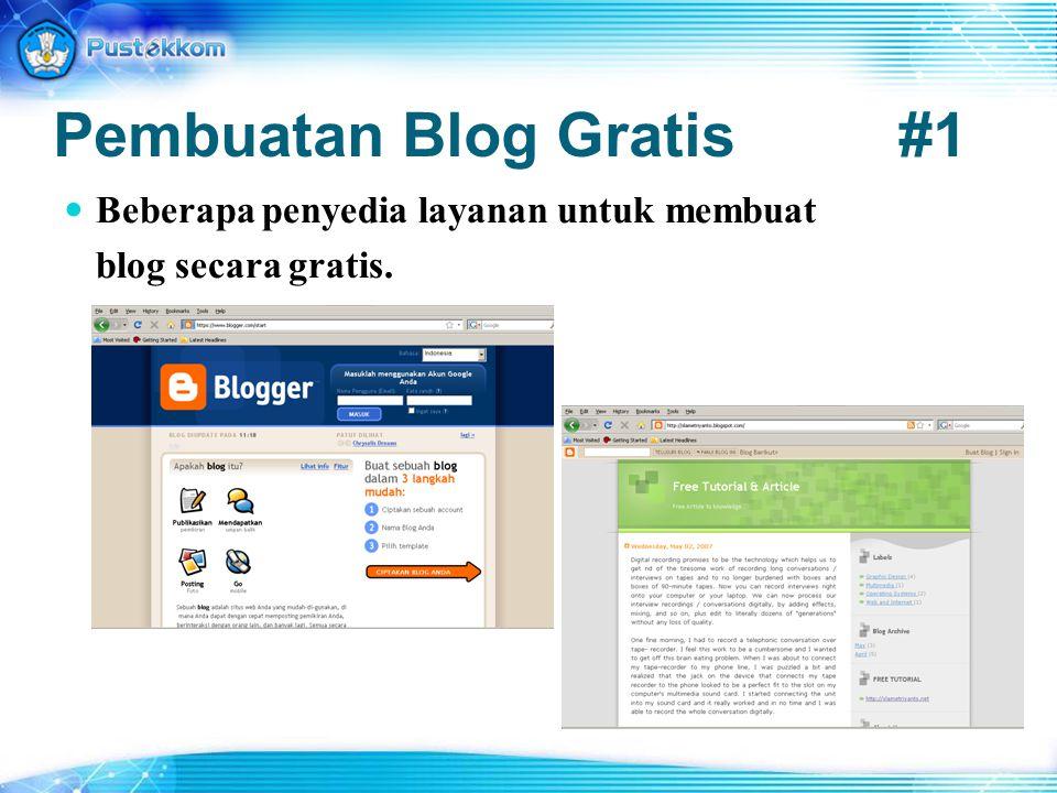 Pembuatan Blog Gratis #1