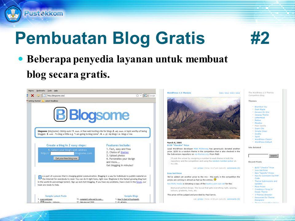Pembuatan Blog Gratis #2