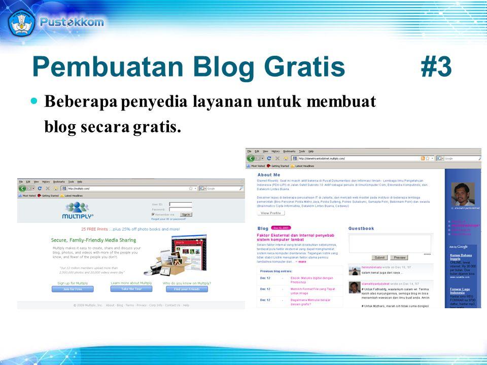 Pembuatan Blog Gratis #3