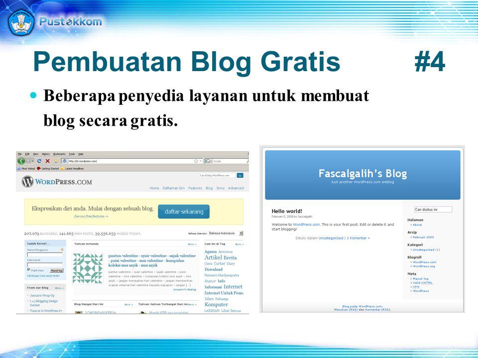 Pembuatan Blog Gratis #4