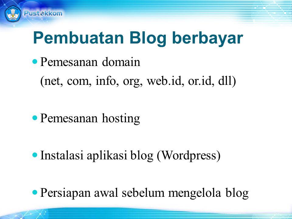 Pembuatan Blog berbayar