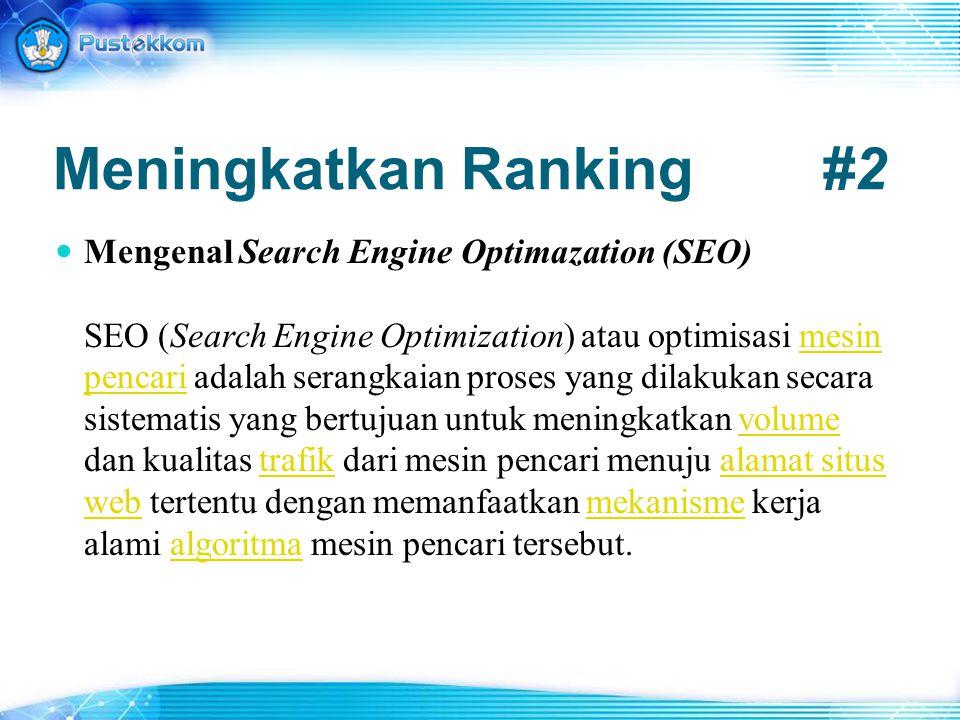 Meningkatkan Ranking #2