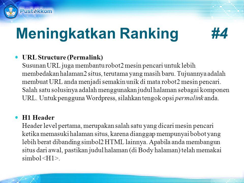 Meningkatkan Ranking #4