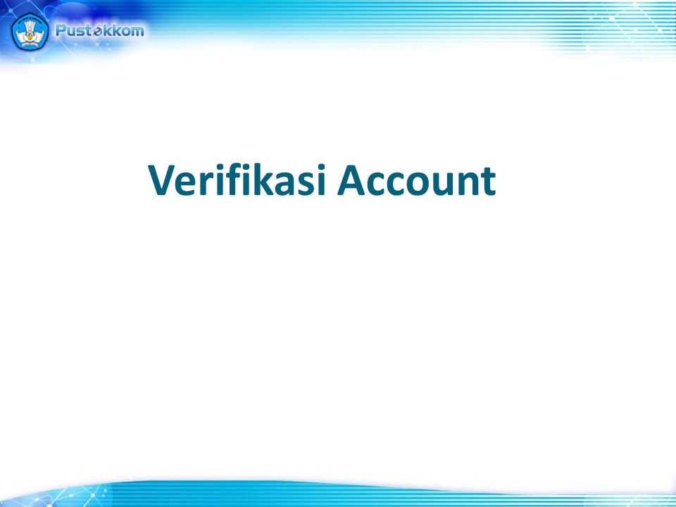 Verifikasi Account