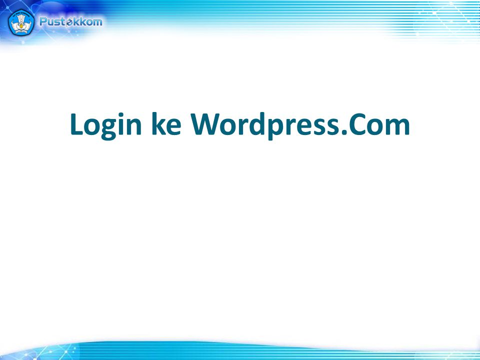 Login ke Wordpress.Com