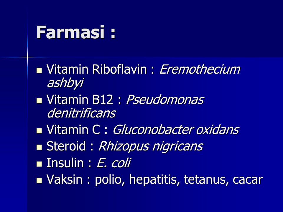 Farmasi : Vitamin Riboflavin : Eremothecium ashbyi