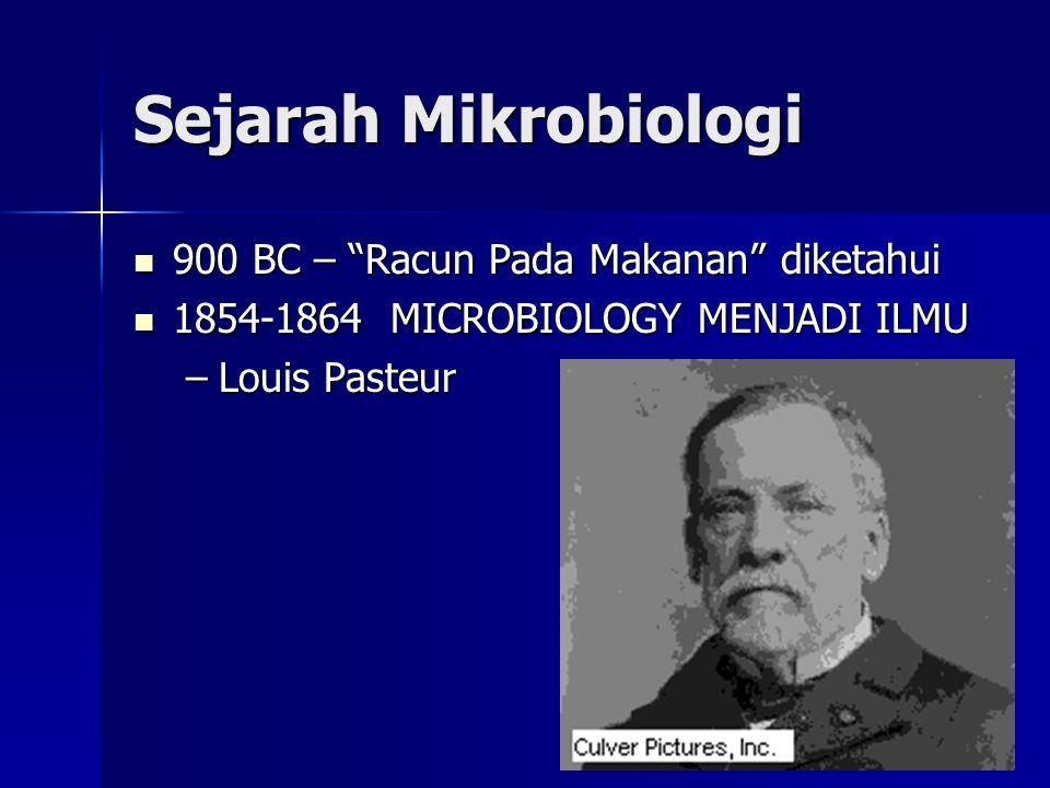 Sejarah Mikrobiologi 900 BC – Racun Pada Makanan diketahui