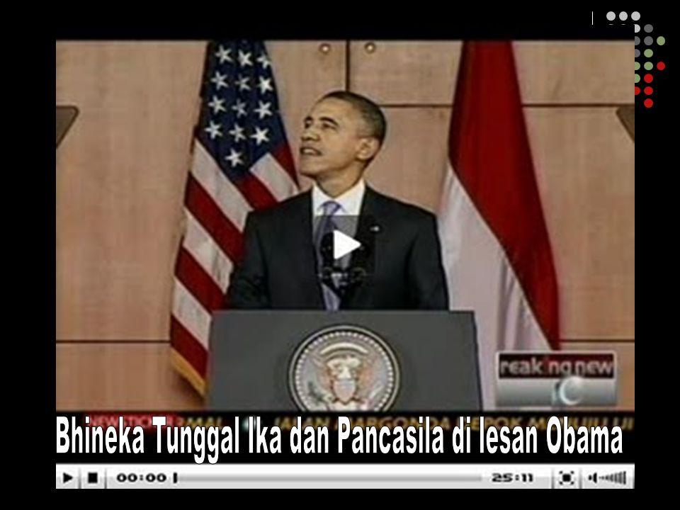 Bhineka Tunggal Ika dan Pancasila di lesan Obama