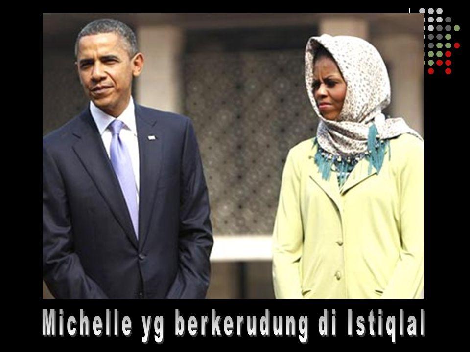 Michelle yg berkerudung di Istiqlal
