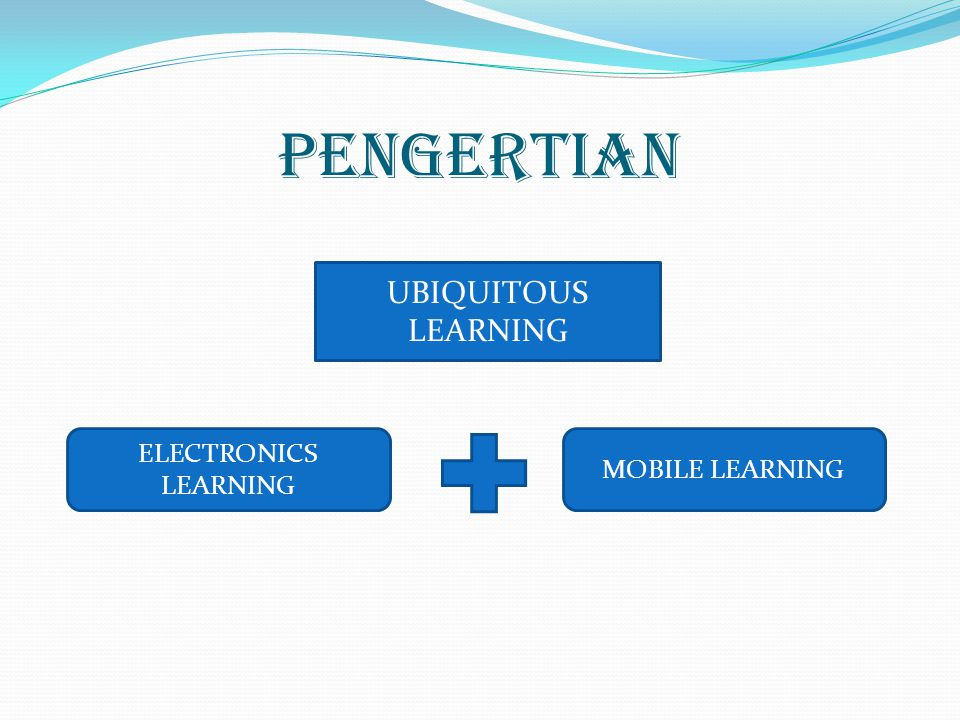 PENGERTIAN UBIQUITOUS LEARNING ELECTRONICS LEARNING MOBILE LEARNING