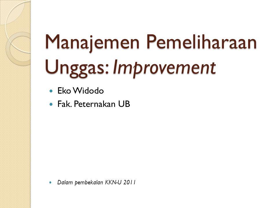 Manajemen Pemeliharaan Unggas: Improvement