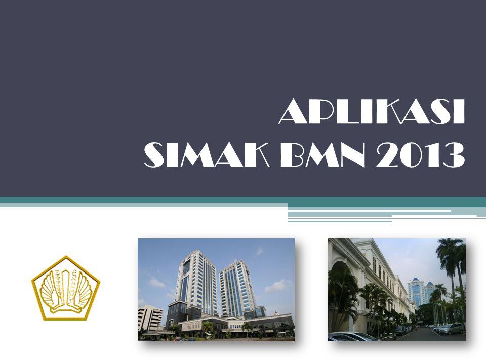 APLIKASI SIMAK BMN 2013