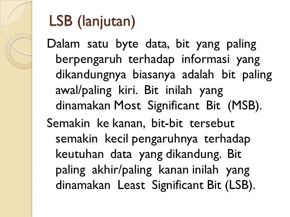 LSB (lanjutan)