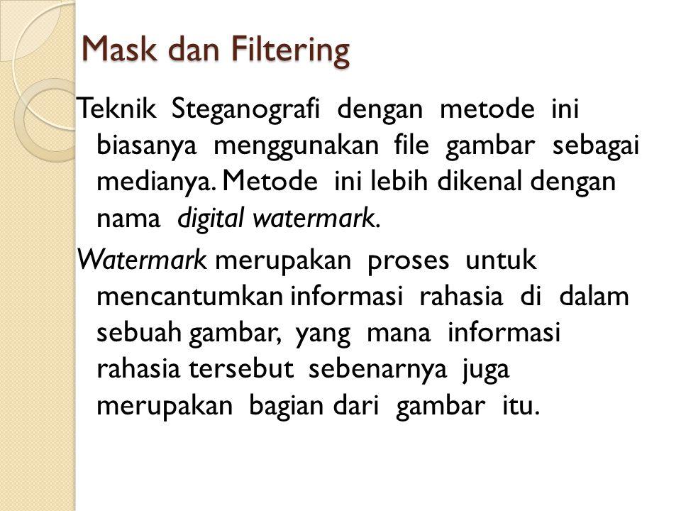 Mask dan Filtering