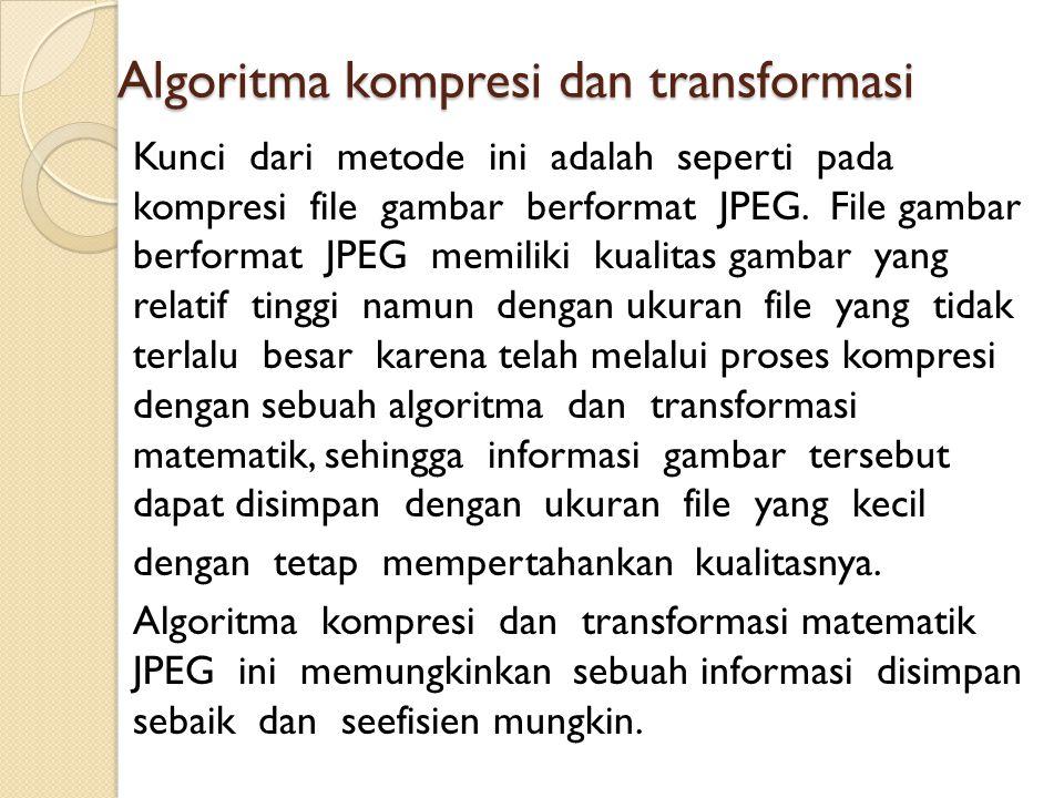 Algoritma kompresi dan transformasi