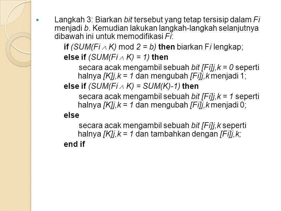Langkah 3: Biarkan bit tersebut yang tetap tersisip dalam Fi menjadi b