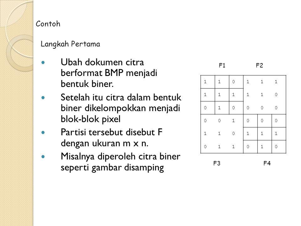 Ubah dokumen citra berformat BMP menjadi bentuk biner.