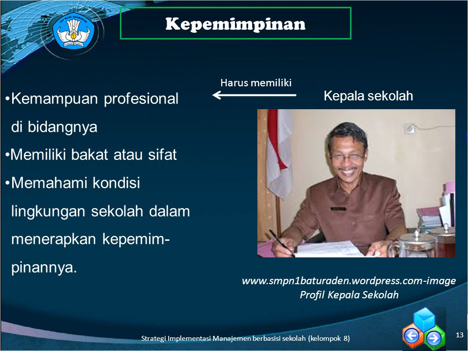 Kepemimpinan Kemampuan profesional di bidangnya