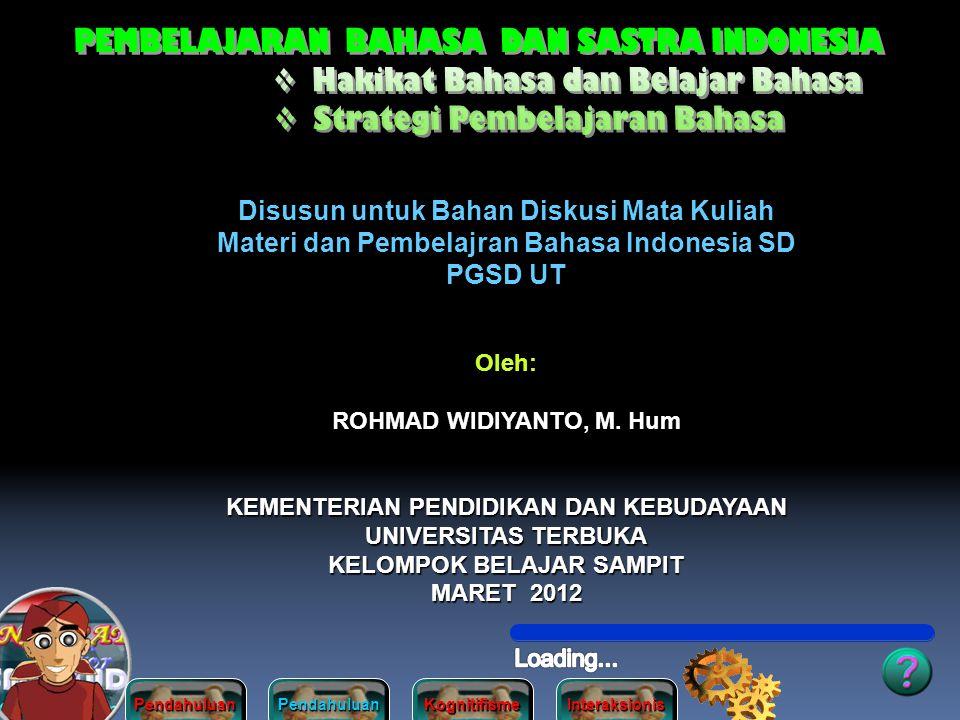 PEMBELAJARAN BAHASA DAN SASTRA INDONESIA