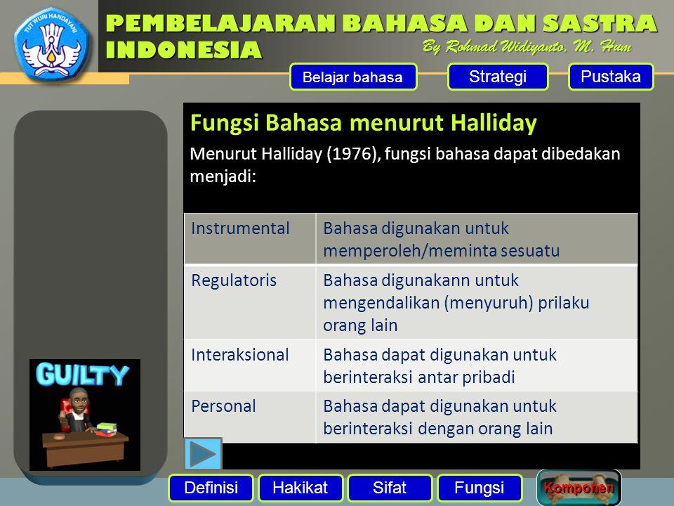 Fungsi Bahasa menurut Halliday