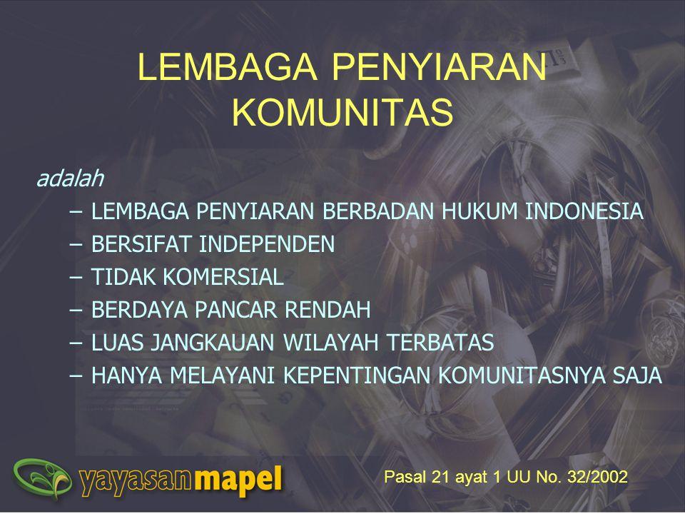 LEMBAGA PENYIARAN KOMUNITAS