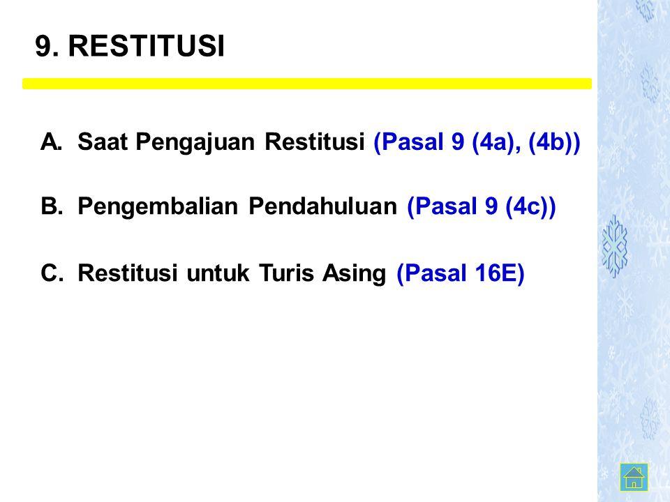 9. RESTITUSI A. Saat Pengajuan Restitusi (Pasal 9 (4a), (4b))