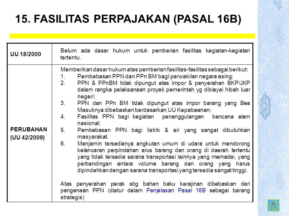 15. FASILITAS PERPAJAKAN (PASAL 16B)