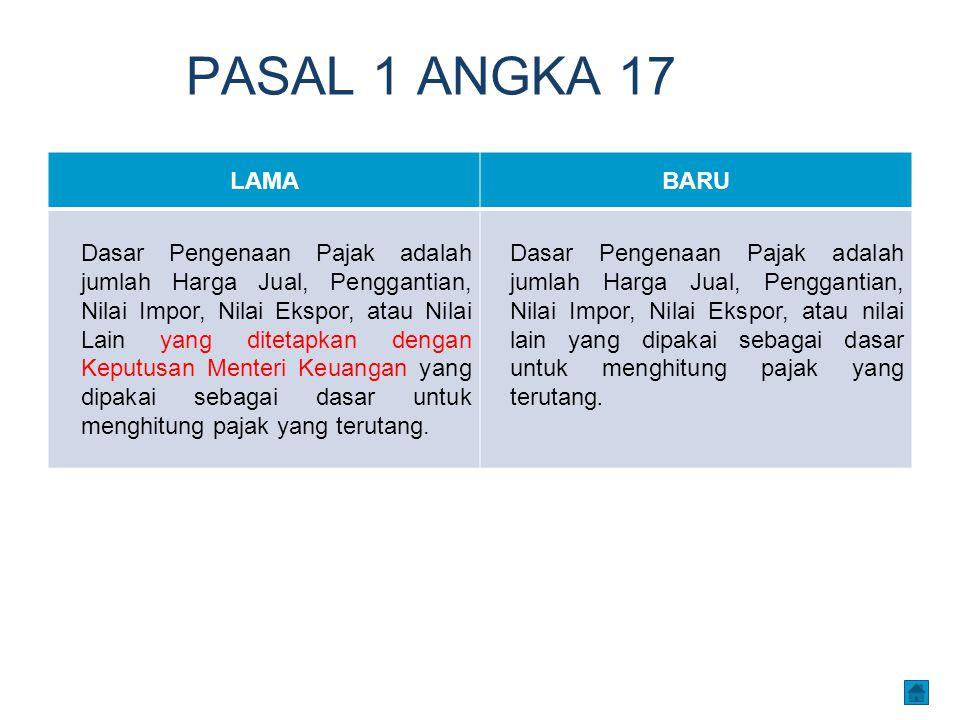 PASAL 1 ANGKA 17 LAMA. BARU.