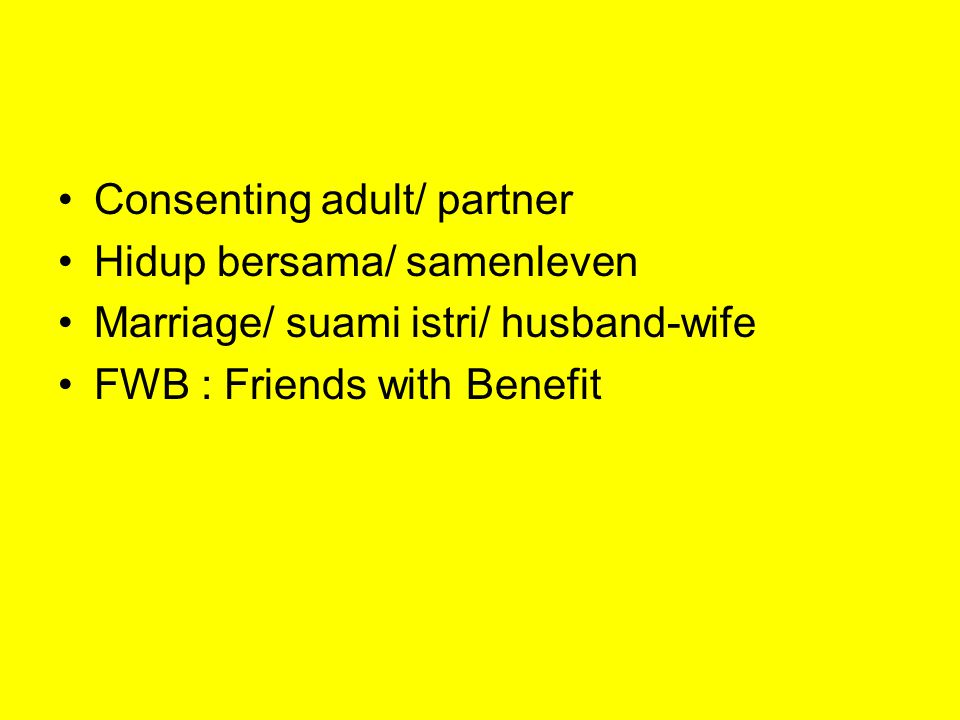 Consenting adult/ partner