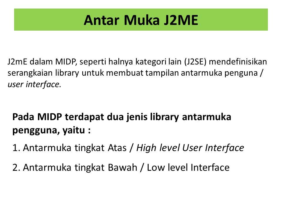 Antar Muka J2ME