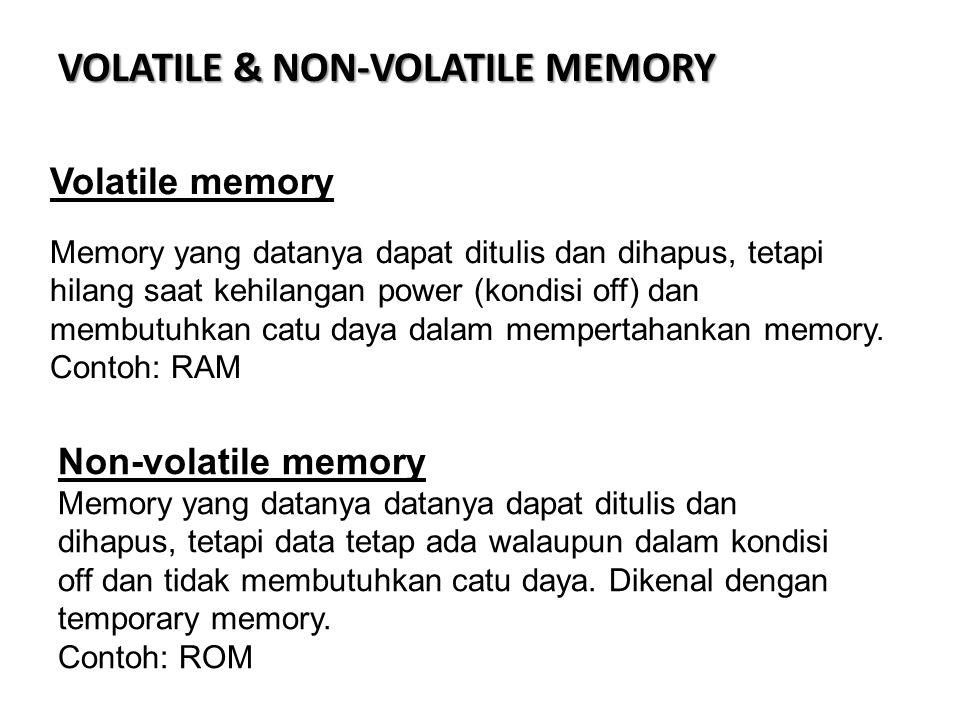 VOLATILE & NON-VOLATILE MEMORY