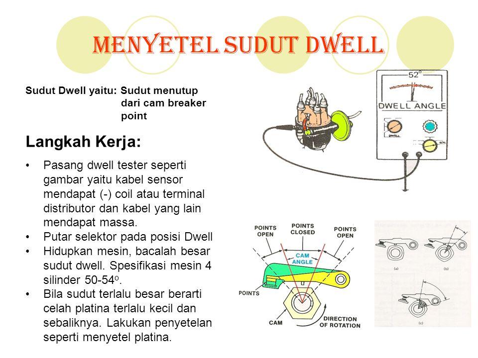 Menyetel Sudut Dwell Langkah Kerja: